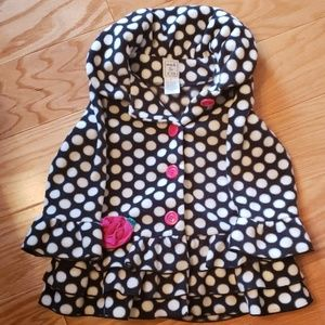 Girls fleece coat, size 2T